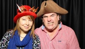 Sheila & Larry pirate face