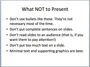 What NOT to Present