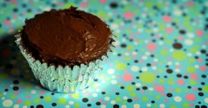 birthday cupcake by ginnerobot via flickr