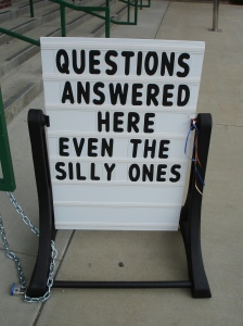 silly questions by Travelin' Librarian via Flickr