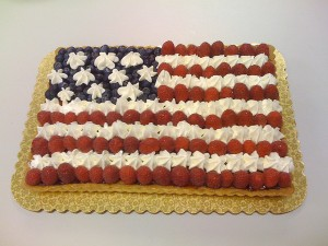 US flag cake by erictoledo via Flickr