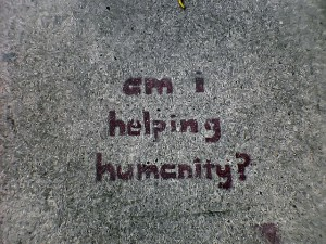 Am I helping humanity? by existentialism via Flickr
