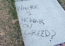 Where is the war on greed? by play4smee via Flickr