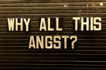 Why all this angst: by patterned via FLickr