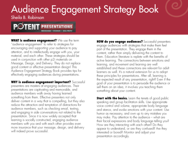 Audience engagement strategy book